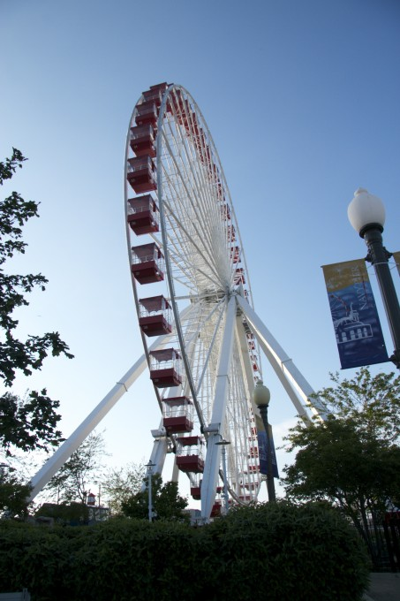 The Ferris Wheel on Navy Pier in Chicago